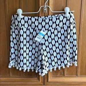 NEW W TAGS! J.McLaughlin Avila Pompom Shorts XS
